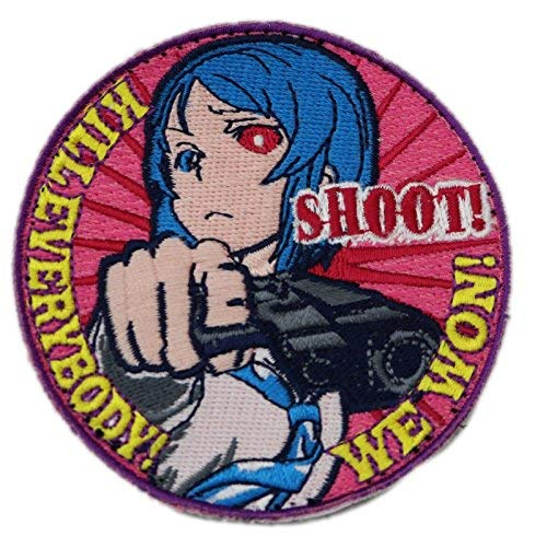 WAPPEN-YA DONGRI Airsoft Patch 1 [Japan Import] 100% Embroidery Verclo Patches Weapon Girl A0037 (Type1)