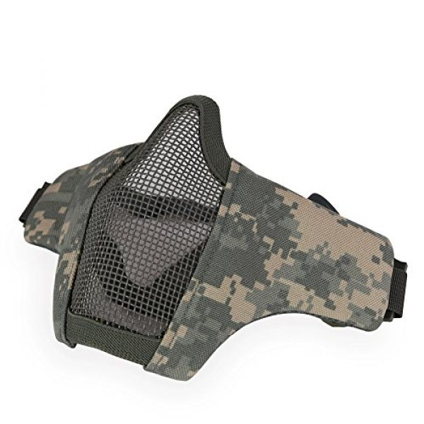 Half Face Steel Mesh Airsoft Mask Fast Helmet Mask for CS/Hunting/Paintball/Shooting