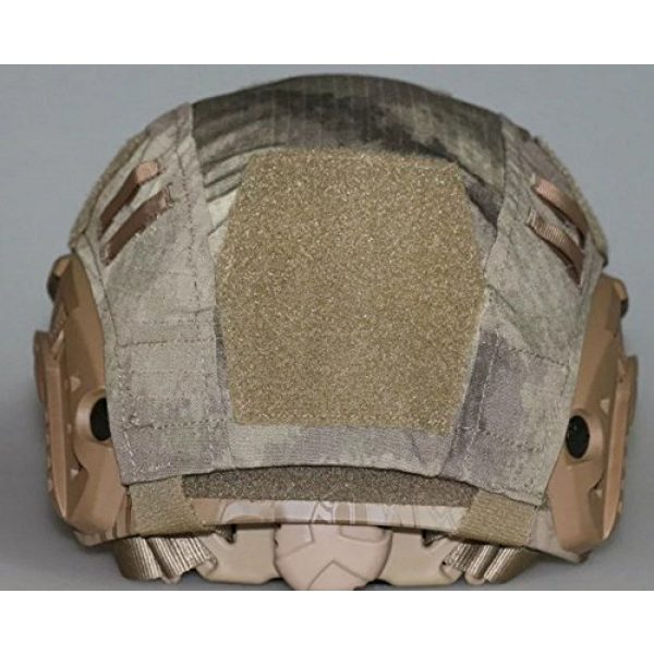OSdream Airsoft Helmet 2 OSdream Tactical Military Helmet Covers Camouflage Cover Airsoft Paintball Shooting Helmet Accessory Only A Cover and US Flag Patch Without Helmet