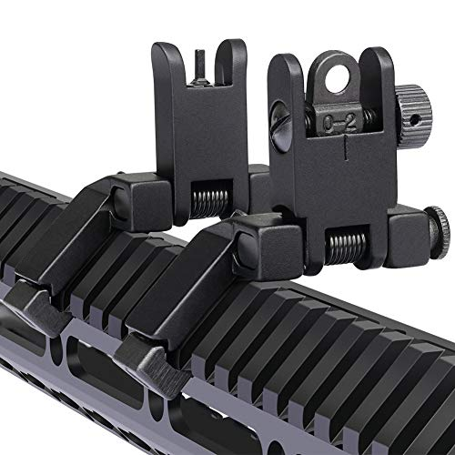 Marmot Airsoft Gun Sight 1 Marmot 45 Degree Offset Flip Up Sight Low Profile Rapid Transition Front & Rear Iron Sights