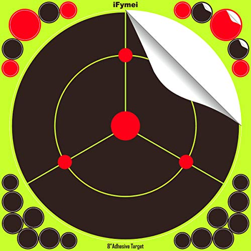 iFymei Airsoft Target 3 iFymei Shooting Targets Splatter Targets for Shooting Self Adhesive Reactive Paper Targets - 8 inch 100 & 50 & 20 Pack Great for Gun Rifle Pistol Bb Gun Airsoft Pellet Gun Air Rifle