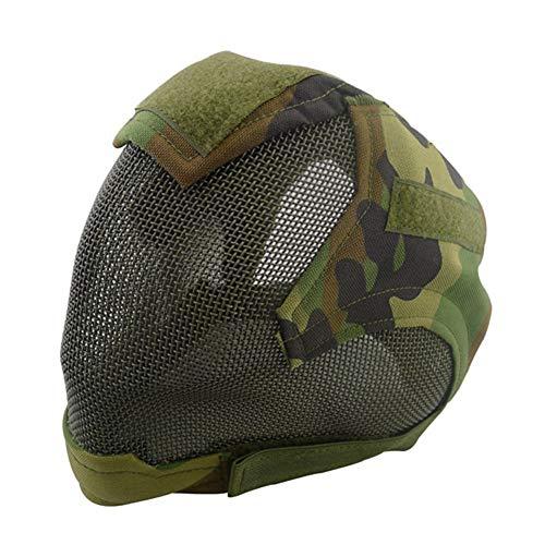 wusasa Airsoft Helmet 4 wusasa Airsoft Mask Full Face Tactical Head Protective Mask Steel Mesh Military Paintbal War Game Mask