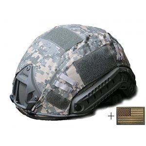 OSdream Airsoft Helmet 1 OSdream Tactical Military Helmet Covers Camouflage Cover Airsoft Paintball Shooting Helmet Accessory Only A Cover and US Flag Patch Without Helmet