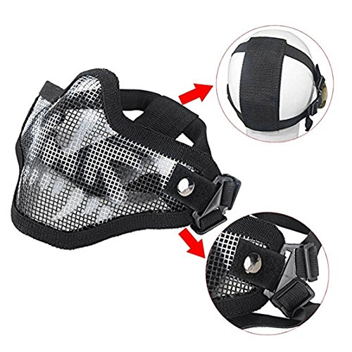 Outgeek Airsoft Mask 6 Outgeek Airsoft Half Face Mask Steel Mesh and Goggles Set