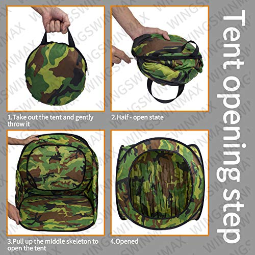 wingswinmax Airsoft Target 3 wingswinmax Foldable Airsoft Target Tent Trap Slingshot BB Trap Net Auto Pop-up Shooting Target Tent BB Target Holder Case