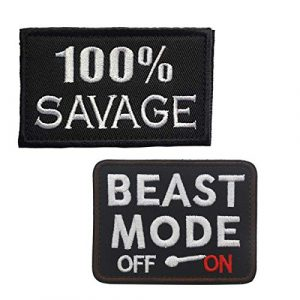 Homiego Airsoft Patch 1 Homiego 100% Savage & Beast Mode On Military Tactical Morale Hook & Loop Badge Patch