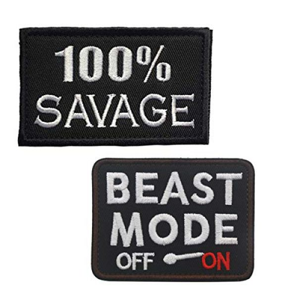 Homiego Airsoft Morale Patch 1 Homiego 100% Savage & Beast Mode On Military Tactical Morale Hook & Loop Badge Patch