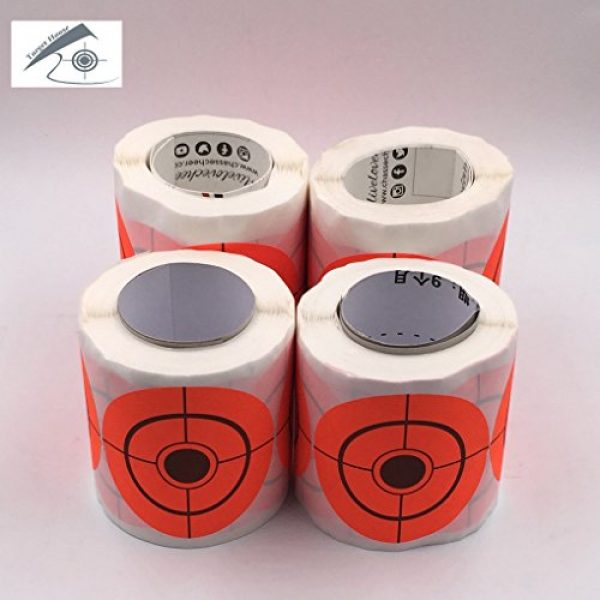 Target House Airsoft Target 4 250 Pack Diameter 6.5 cm Self Adhesive Target Stickers for Shooting