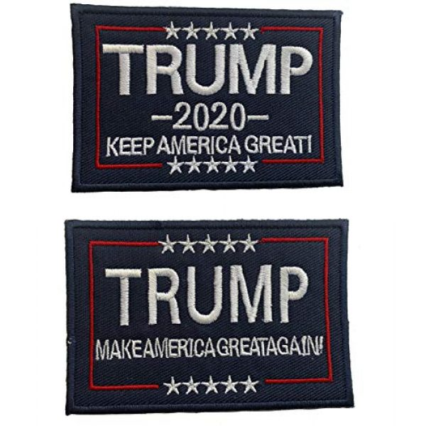 Team Airsoft Patch 1 Trump 2020 Patch Sew or Iron on Patches President America Great Donald Trump for Clothing Jackets Backpacks Jeans