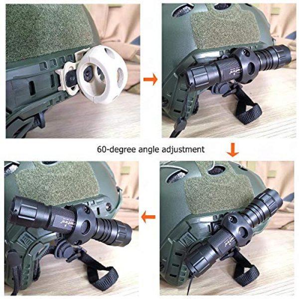 Armorwerx Airsoft Helmet 4 Armorwerx Rotating Flashlight Mount for Tactical Helmet