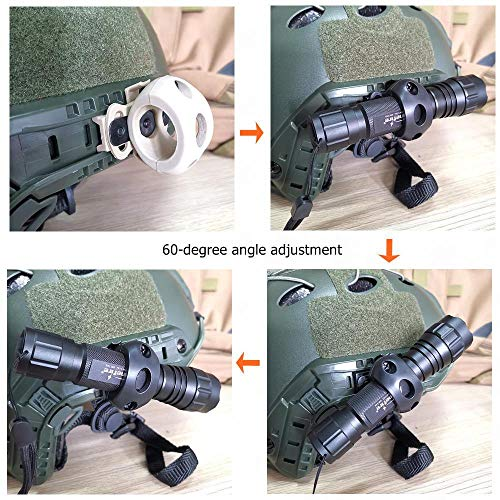 Armorwerx Airsoft Helmet 4 Armorwerx Rotating Flashlight Mount for Tactical Helmet