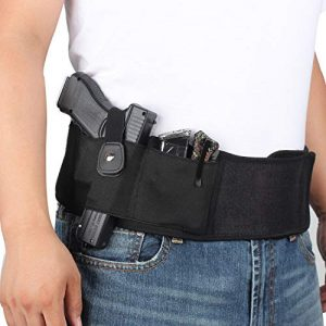 LIVIQILY  1 LIVIQILY Tactical Belly Band Gun Holster Right-Hand Concealed Carry Invisible Elastic Waist Pistol Holster Girdle Belt