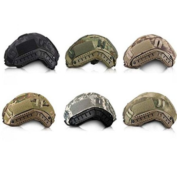 iMeshbean Airsoft Helmet 3 iMeshbean Tactical Series Airsoft Paintball Hunting Shooting Gear Combat Fast Helmet Cover (at)