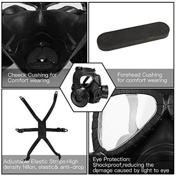 GYMTOP Airsoft Mask 2 M04 Airsoft Tactical Protective Mask