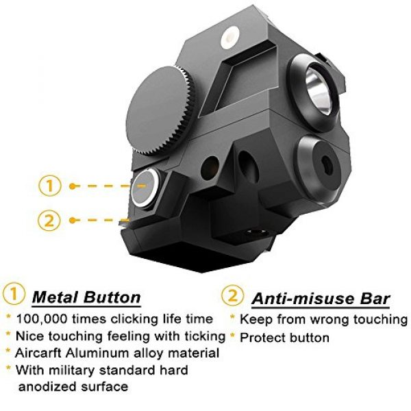Ade Advanced Optics Airsoft Gun Sight 3 Ade Advanced Optics Reventon Series Strobe Green Laser Flashlight Sight for Pistol Handgun
