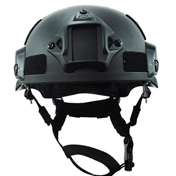 ATAIRSOFT Airsoft Helmet 4 ATAIRSOFT PJ Type Tactical Airsoft Paintball MICH 2002 Helmet with Side Rail & NVG Mount