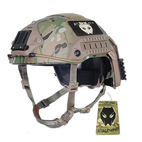 ATAIRSOFT Airsoft Helmet 1 ATAIRSOFT Adjustable Maritime Helmet ABS Multicam MC for Airsoft Paintball
