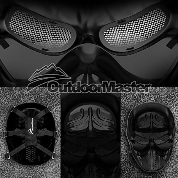 OutdoorMaster Airsoft Mask 4 OutdoorMaster Full Face Airsoft Mask with Metal Mesh Eye Protection