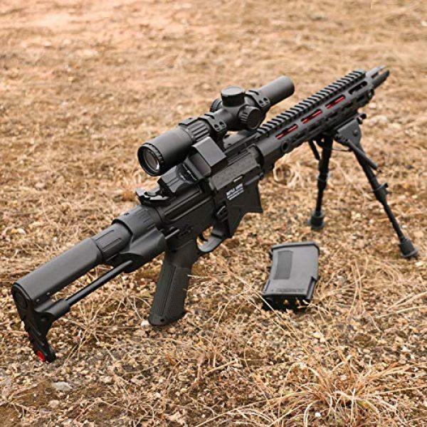 Feyachi Airsoft Gun Sight 4 Feyachi Reflex Sight Red & Green Dot Gun Sight Scope 4 Reticles with 45 Degree Rail Mount