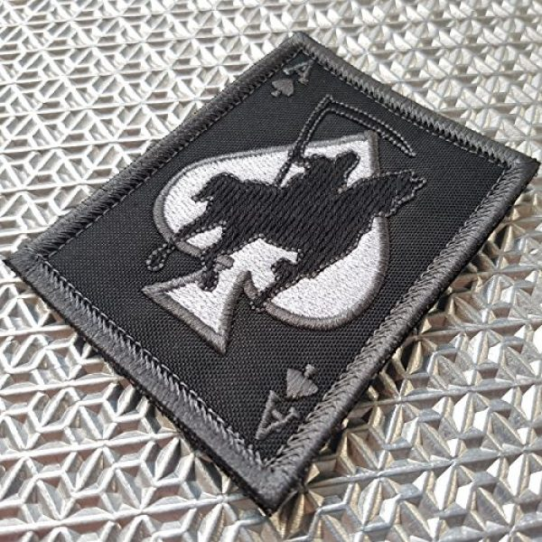 LEGEEON Airsoft Morale Patch 2 LEGEEON ACU Subdued Ace of Spades Grim Reaper Death Card Morale Tactical Skull Skeleton Sew Iron on Patch