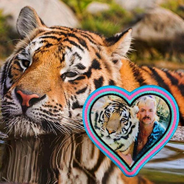 Violent Little Machine Shop Airsoft Morale Patch 4 Violent Little 'Heart of The Tiger King' Joe Exotic Morale Patch with Velcro