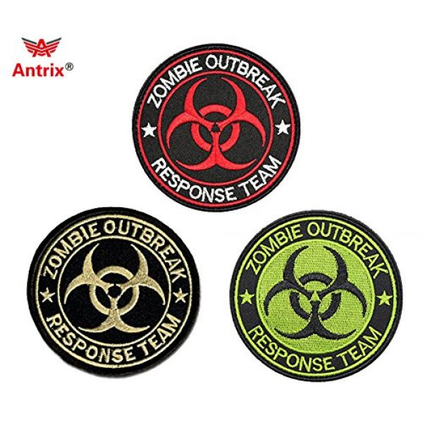 Antrix Airsoft Patch 1 Resident Evil Patches,Antrix 3 Pack Resident Evil Zombie Outbreak Response Team Tactical Morale Patches