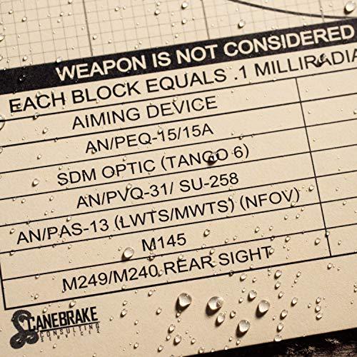 """Rite In The Rain Airsoft Target 5 Rite in the Rain Weatherproof 8.5"""" x 11"""" Multipurpose / Universal / Sniper Tan Targets"""