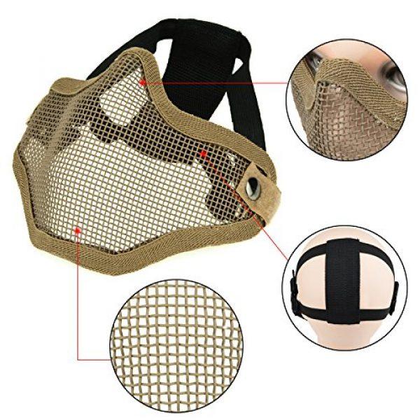 ArcEnCiel Airsoft Mask 4 ArcEnCiel Tactical Airsoft Steel Metal Mesh Half Face Mask