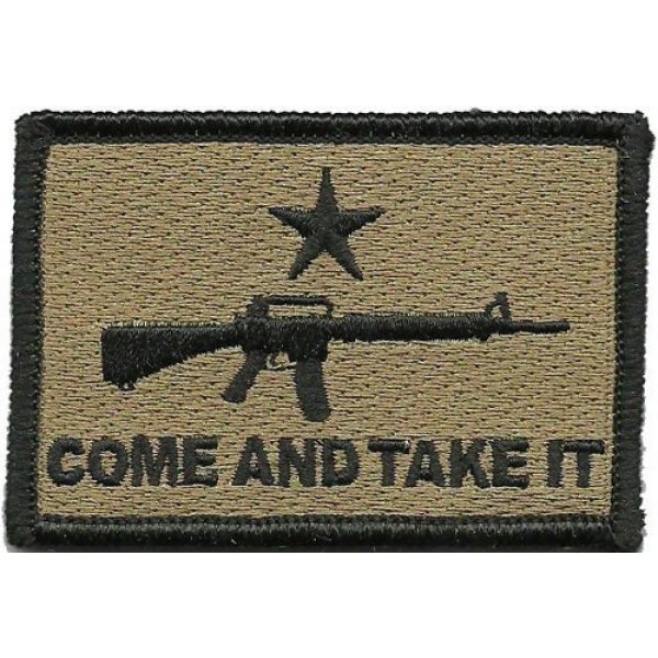 Gadsden and Culpeper Airsoft Patch 1 AR-15 Come and Take It Tactical Patch - Coyote Tan