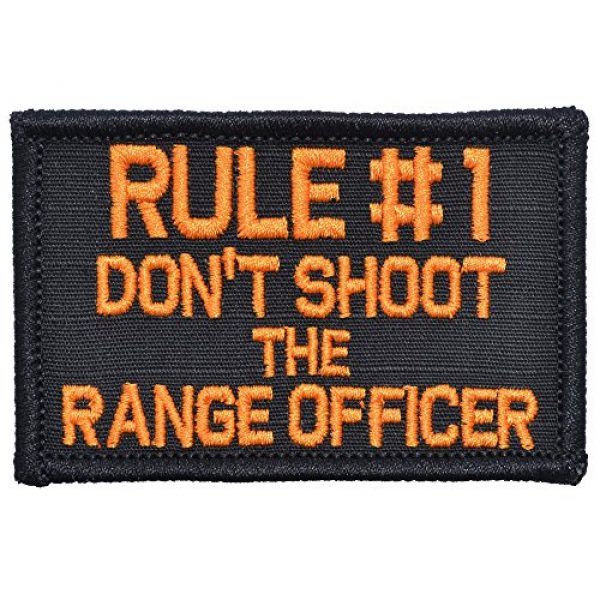 Tactical Gear Junkie Airsoft Patch 1 Rule #1 Don't Shoot The Range Officer - 2x3 Morale Patch