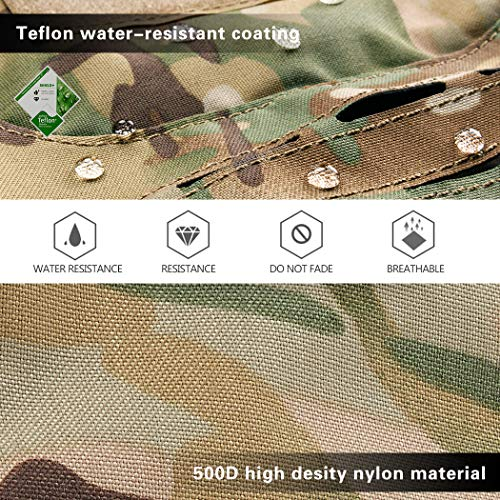 IDOGEAR Airsoft Helmet 7 IDOGEAR Tactical Helmet Cover Camouflage Cover for Fast Helmet in Size M/L Airsoft Paintball Hunting Shooting Gear 500D Nylon