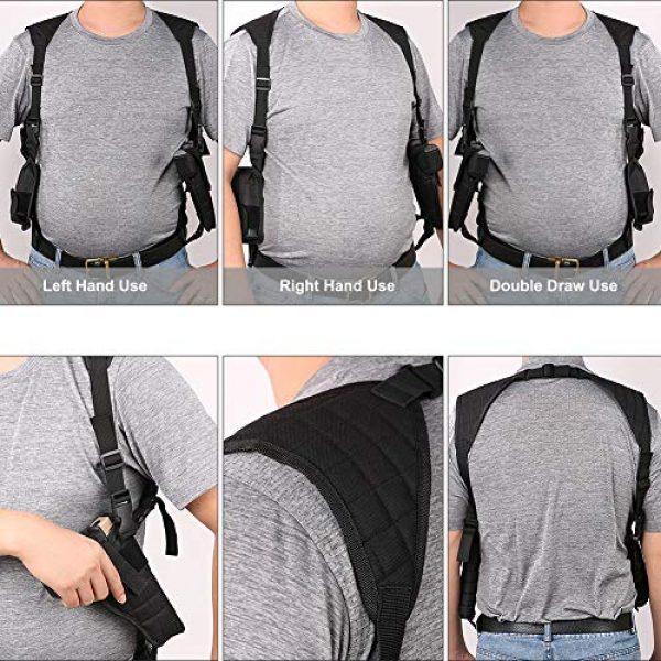 TW TWOD  5 Twod Concealed Carry Shoulder Holster Nylon Cross Harness Vertical Shoulder Holster Adjustable for Most Handguns or Pistol