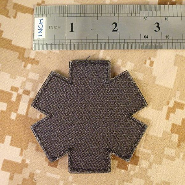 LEGEEON Airsoft Morale Patch 7 LEGEEON Glow Dark Black EMS EMT Medic Paramedic Star of Life Morale Tactical PVC Touch Fastener Patch