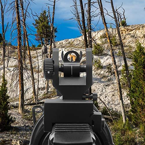Feyachi Gold Airsoft Gun Sight 4 Feyachi Flip Up Iron Sight Front Rear Sight Compatible for Picatinny Rail and Weaver Rail of Rifle