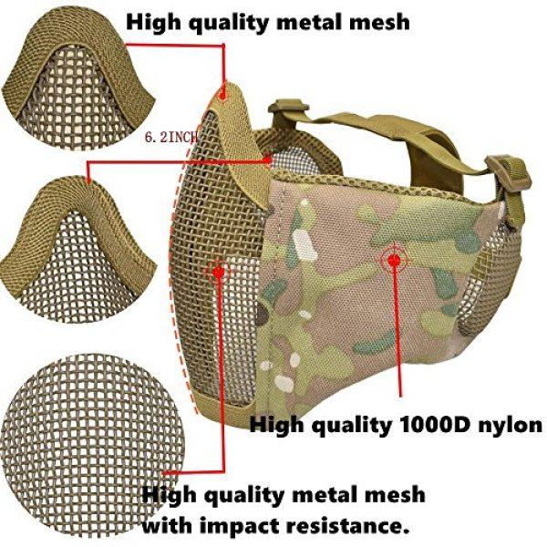 Jadedragon Airsoft Helmet 5 Jadedragon PJ Tactical Fast Helmet & Protect Ear Foldable Double Straps Half Face Mesh Mask & Goggle