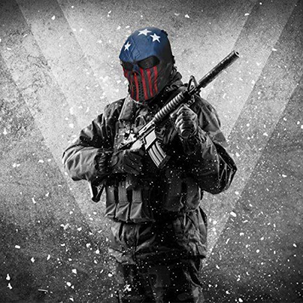 BB Tactical Cs War Game Outdoor Cosplay Halloween Skull Skeleton Full Face Anti Fog Eye Kids with Metal Mesh Protection
