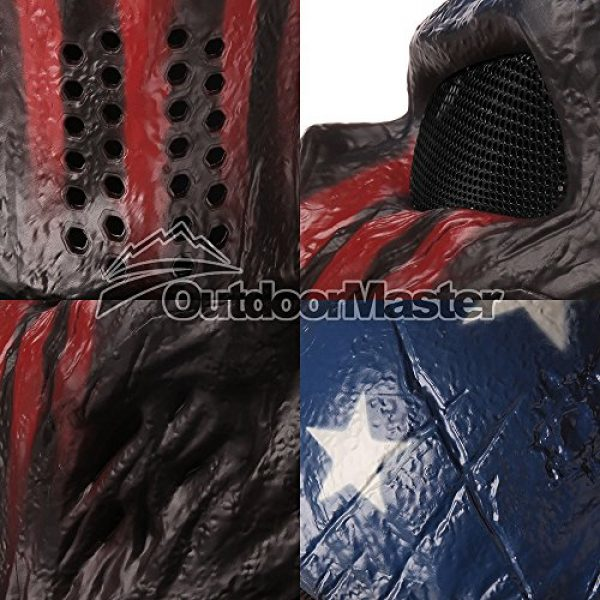OutdoorMaster Airsoft Mask 3 OutdoorMaster Full Face Airsoft Mask with Metal Mesh Eye Protection