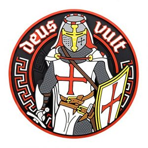 M-Tac Airsoft Patch 1 M-Tac Deus Vult Crusader PVC 3D Morale Patch Military & Tactical Army Rubber