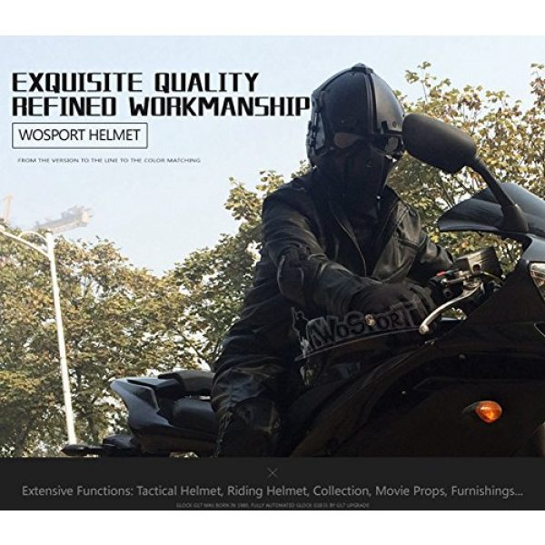 LEJUNJIE Airsoft Helmet 7 LEJUNJIE Tactical Airsoft Helmet Full Face Protection Mask Goggles Hunting Paintball Shooting Military Motorcycle Cosplay Movie Prop