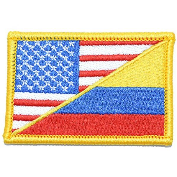 Tactical Gear Junkie Airsoft Patch 1 Colombian/USA Flag - 2x3 Morale Patch - Full Color