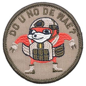"Tactical Gear Junkie Airsoft Patch 1 Ugandan Knuckles""Do You Know De Wae"" 2ndLt Combat Knuck Patch - 3 inch Round Morale Patch"