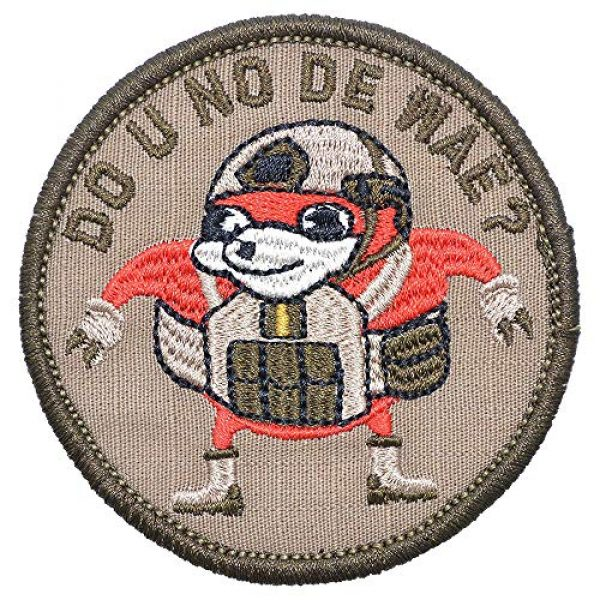 """Werich Airsoft Morale Patch 3 Ugandan Knuckles""""Do You Know De Wae PatchFastener Hook and Loop Military Badge Funny Patch for Backpacks Caps Hats Vests Bags Military Patch Set Backing -3 inch Hat Patch"""