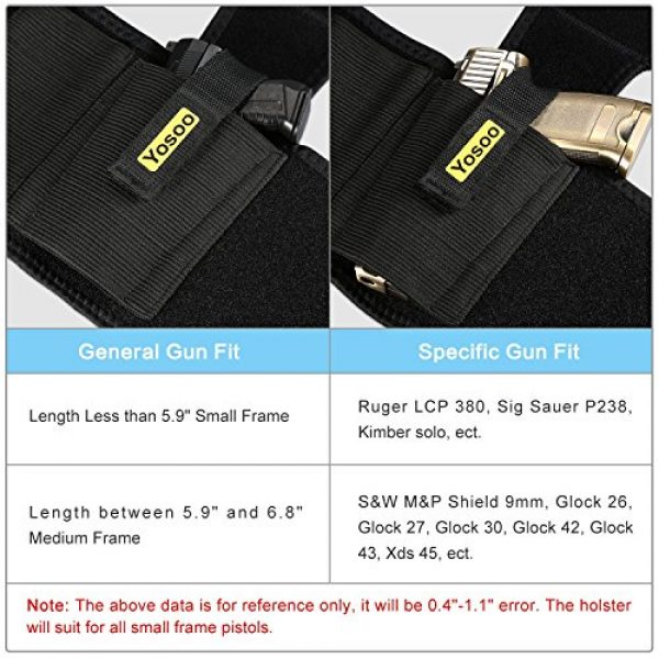 Haofy  2 Haofy Concealed Ankle Gun Holster with Magazine Pouch Compatible with Glock 26 27 30 42 43 LCP 380