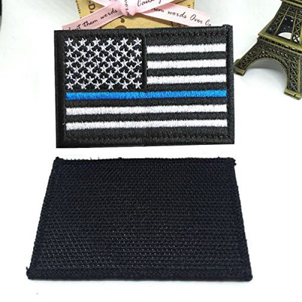 Antrix Airsoft Morale Patch 3 US Flag Patch, Antrix 8 Pack Great Value USA American Flags Thin Blue Line Thin Red Line US Army Flag Fully Embroidered Military Badge Emblem Patches Set