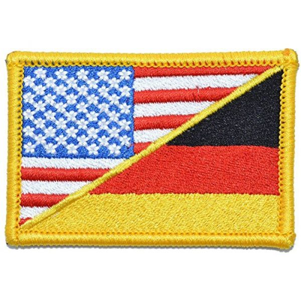 Tactical Gear Junkie Airsoft Patch 1 Germany/USA Flag - 2x3 Morale Patch - Full Color