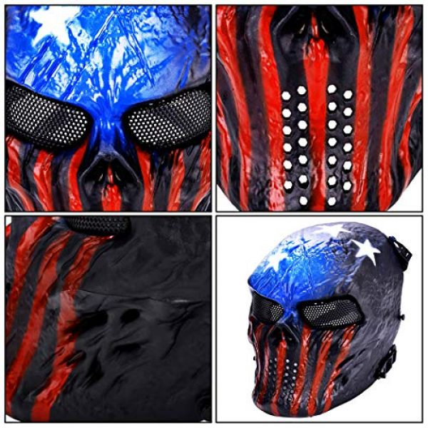 Outgeek Airsoft Mask 5 Outgeek Tactical Airsoft Mask Full Face Costume Mask(Urban)