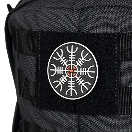 M-Tac Airsoft Patch 2 M-Tac Helm of Awe Viking Morale Patches PVC Norse Rune Vegvisir Morale Patch