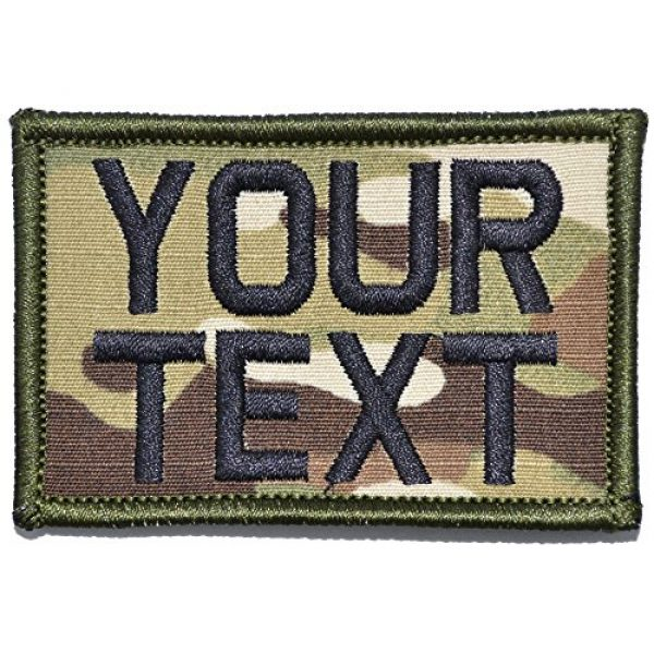 Tactical Gear Junkie Airsoft Patch 1 Customizable Text Patch - 2x3 Morale Patch - Multicam
