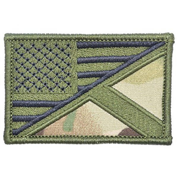 Tactical Gear Junkie Airsoft Patch 1 Scotland/USA Flag - 2x3 Morale Patch - Multiple Colors (Multicam)