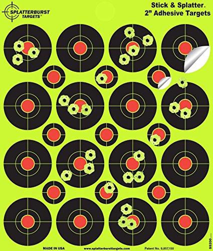 Splatterburst Targets Airsoft Target 1 Splatterburst Targets - 2 inch Stick & Splatter Reactive Self Adhesive Shooting Targets - Gun - Rifle - Pistol - Airsoft - BB Gun - Pellet Gun - Air Rifle